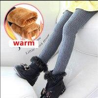Plus Velvet Girl Kids Winter Pants Thickening Girls Leggings Cartoon For 24M 12Years Warm Girls Trousers
