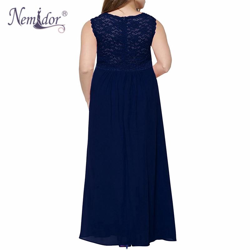 75434c7ca98 2019 Nemidor High Quality Women V Neck Chiffon Lace Patchwork Party ...