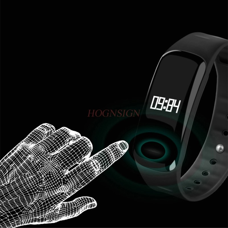все цены на Blood pressure heart rate monitoring smart bracelet blood oxygen sports student electronic watch pedometer anti-lost vibration a