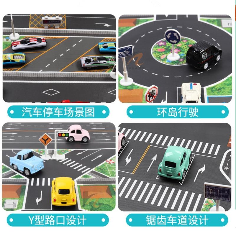 HTB1uayrXRCw3KVjSZR0q6zcUpXaB 83*57cm/130*100CM Large City Traffic Car Park Play Mat Waterproof Non-woven Kids Playmat Pull Back Car Toys for Children's Mat