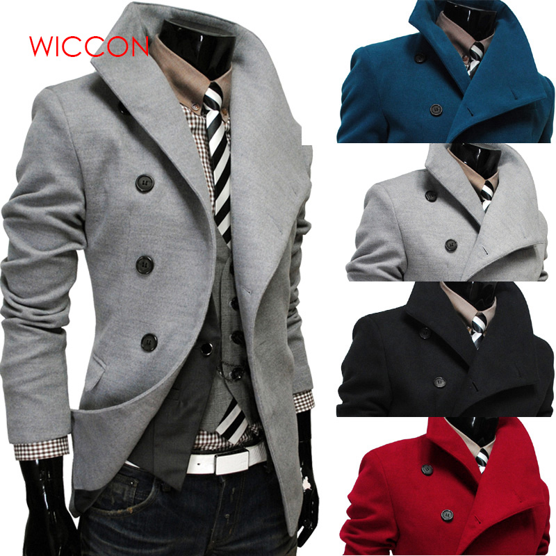 2019 New Single -Breasted Lapel Oblique Placket Wool Coat For Men Men 'S Clothing Coats Jacket Strench