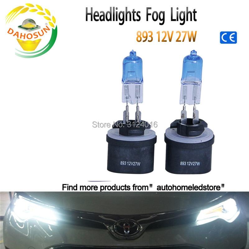 2 шт. x галогенная лампа 880 893 884 885 890 899 881 894 886 889 896 H27 PJG13 12V 27W 37W супер белый, для Hyundai