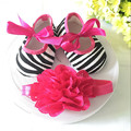 Kids flowers Shoes  Girl Princess Lace Headband Cute Infant Girl Toddler Shoes Set Newborn Photography Props 8TX22