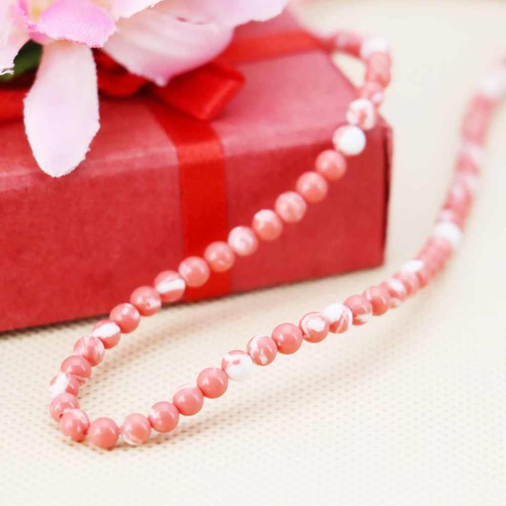 4 Mm Berwarna Merah Muda Wintersweet Turki Batu Bulat Longgar Diy Beads Aksesori Kerajinan Perhiasan Membuat Desain 15 Inch Wanita Gadis Hadiah batu