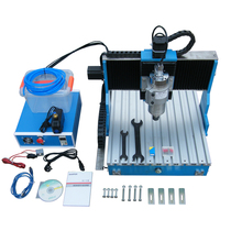 4axis CNC Lathe Woodworking Machine Linear Guide Rail 1.5KW 4 axis CNC 6040 Engraving Machine USB / Parallel port