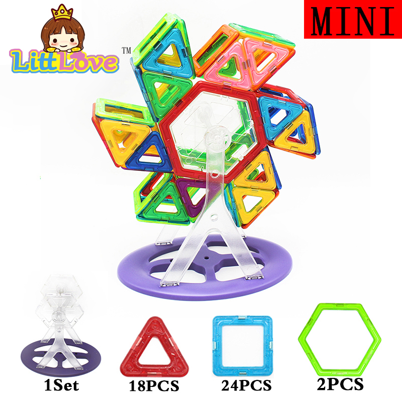 52 PCs Mini Windmill Enlighten Bricks Educational Magnetic Designer Constructions font b Toy b font Building