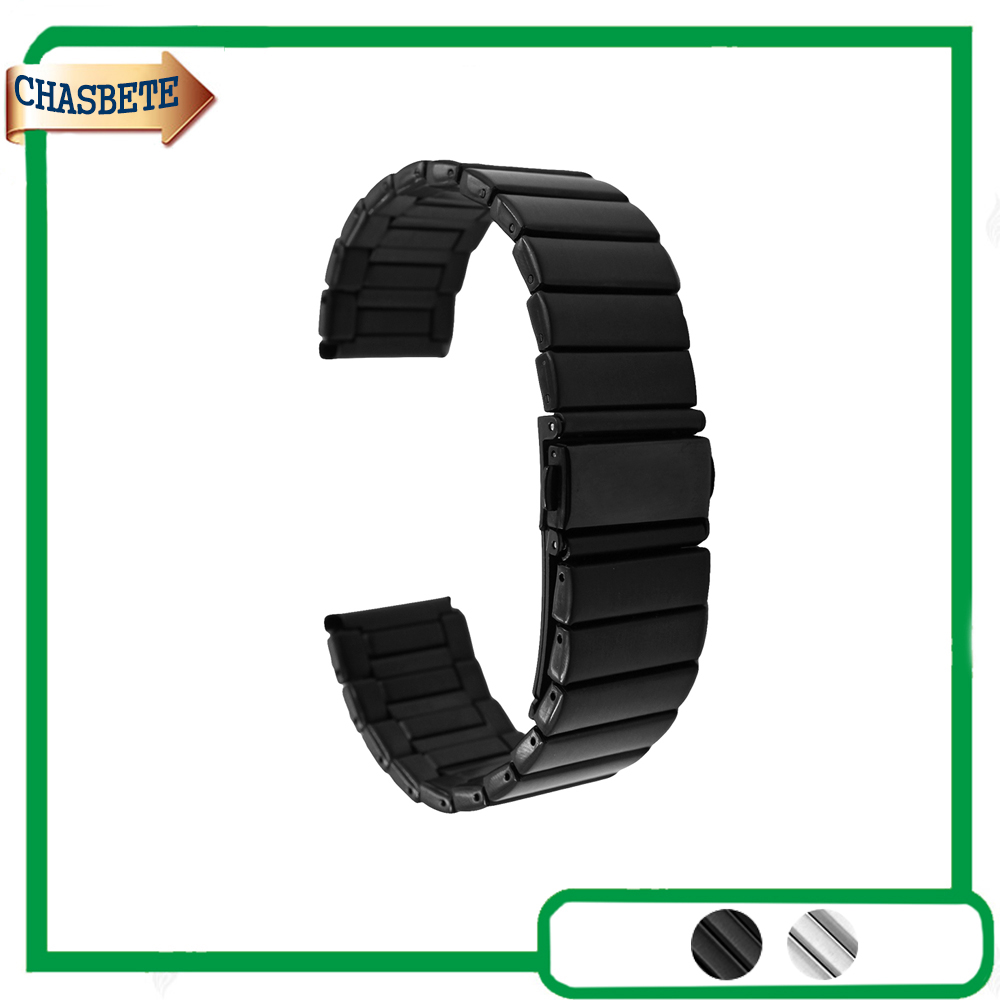 цены Stainless Steel Watch Band for Fossil Watchband 22mm 24mm Metal Strap Belt Wrist Loop Bracelet Black Silver + Tool + Spring Bar
