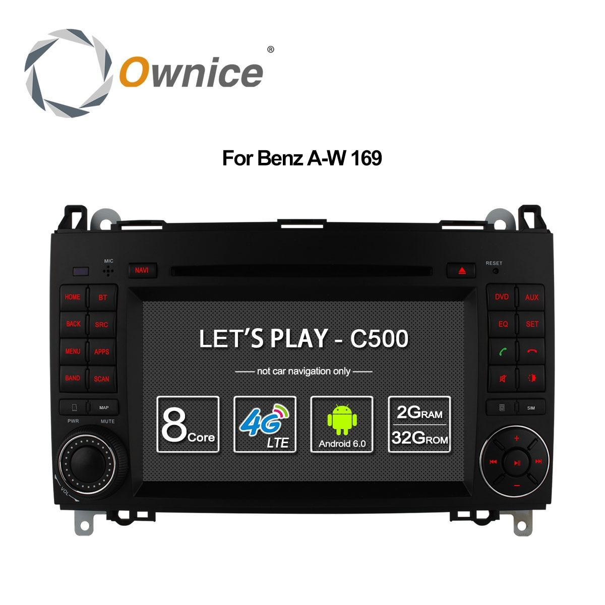 Ownice 4 г SIM LTE Android6.0 8 core 32 г Встроенная память автомобильный DVD GPS Navi для Mercedes-класс w169 Sprinter W209 crafter Viano Vito LT3 W245