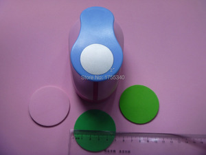 Image 2 - free shipping 1pc 50mm circle eva foam punch craft punch troqueladora de papel Kids scrapbook paper cutter scrapbooking punches