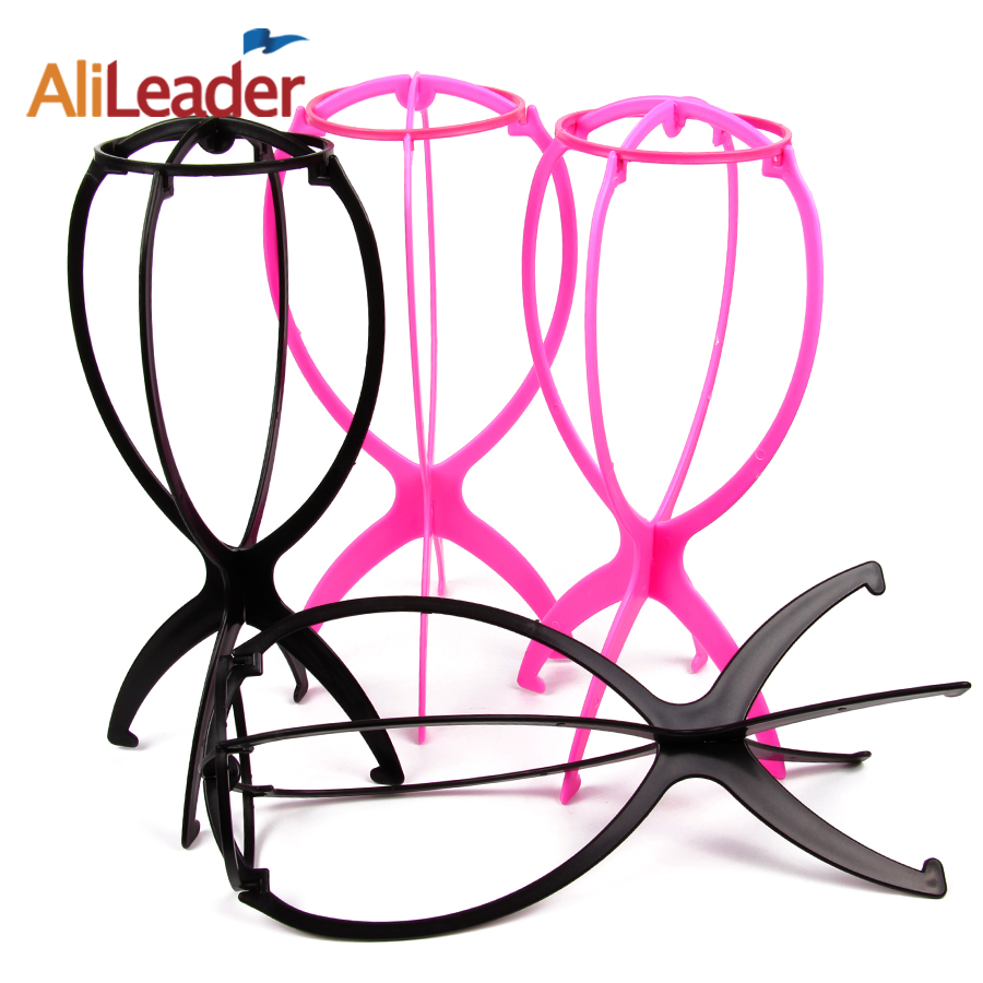 Top Quality Professional Wig Stand Plastic Wig Holders For Styling Wig Stable Durable Wig Support Display Tool Black/Pink Color