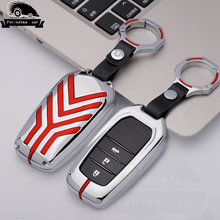 Zinc alloy Key Car Cover Case For Toyota Land Cruiser Chr C-hr 200 Auris Avensis Corolla Crown Camry Style Car Key Ring Holder leather car seat cover for toyota auris avensis aygo camry 40 50 chr c hr corolla verso of 2018 2017 2016 2015