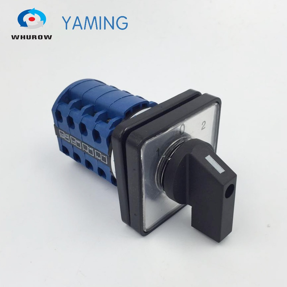3 position 20A 4 poles electrical universal changeover rotary cam switch silver contacts LW26-20/4 rotary switch knob 3 position ymz12 32 2 universal combination manual electrical changeover cam switch 32a 690v 2 phases