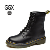 GGX Pose Big Size 35 44 Real Leather Women Boots Winter Leisure Stlish Riding Women Shoes