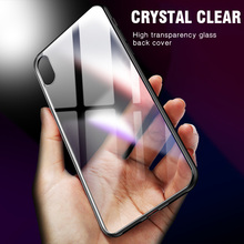 IIOZO Luxury Tempered Glass Phone Case for iphone X Anti-scratch High Transparency Full Glass Back Cover for iphone X 10