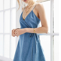Women Summer Denim Dress 2017 V Neck Sexy Solid Mini Dress Beach Wear Elegant Strap Cotton