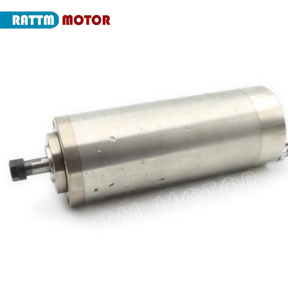 1.5kw Waterproof Water cooled spindle motor 220V ER11 6A 24000rpm runout off 0.01mm 4 bearings-in Machine Tool Spindle from Tools    3