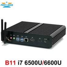 Причастником 6 Gen Skylake Мини ПК Intel Core i7 6600U 6500U Max 3.1 ГГц Intel HD Graphics 520 микро компьютер HTPC Windows 10, linux