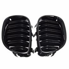 2 шт Передняя решетка для почек яркая черная двойная линия решетка для BMW E60 E61 5 серия 2003-2009 Передняя решетка для почек