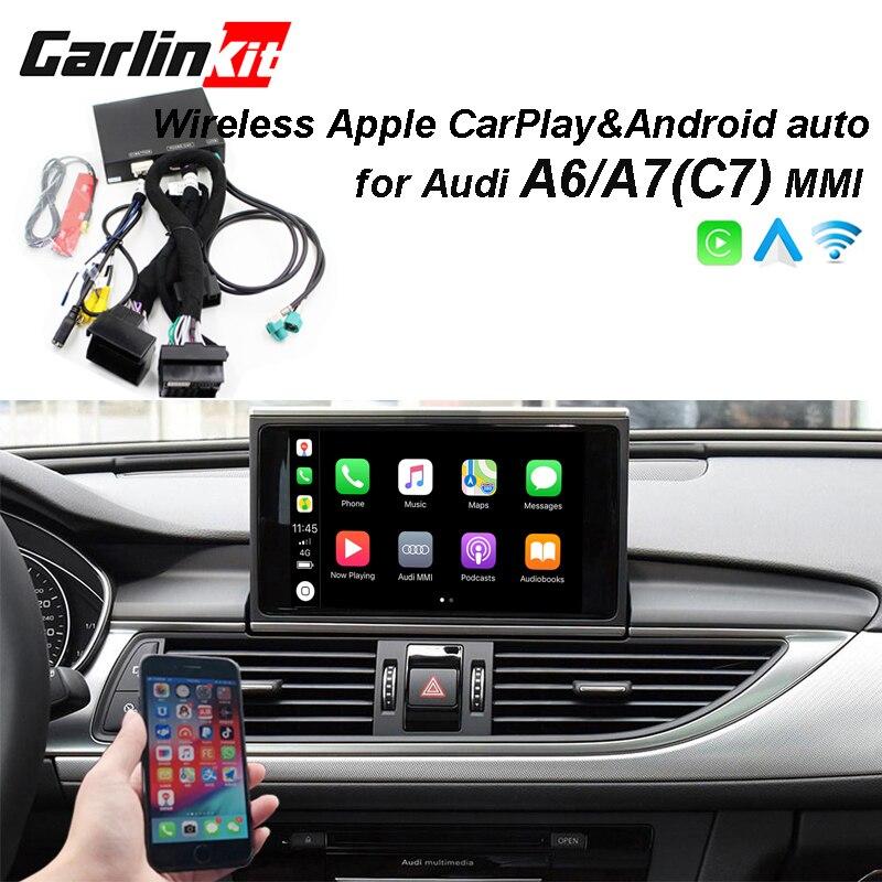 2019 Carro CarPlay Android Auto Decodificador Sem Fio Da Apple para Audi A6 A7 (C7) MMI Original Tela imagem Inversa Kit Retrofit
