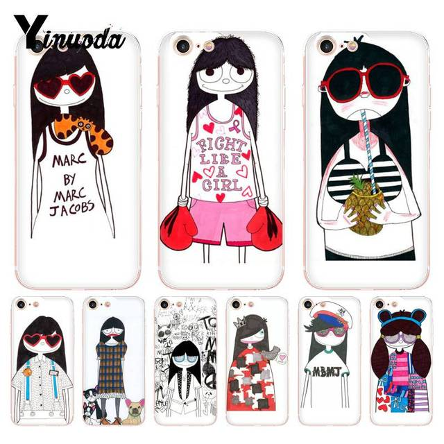 97b579d0cf Yinuoda For iphone 7 6 X Case Marc. Jacobs Girl Cinderella On Sale Phone  Case for iPhone 8 7 6 6S Plus X 10 5 5S SE 5C 4 4S