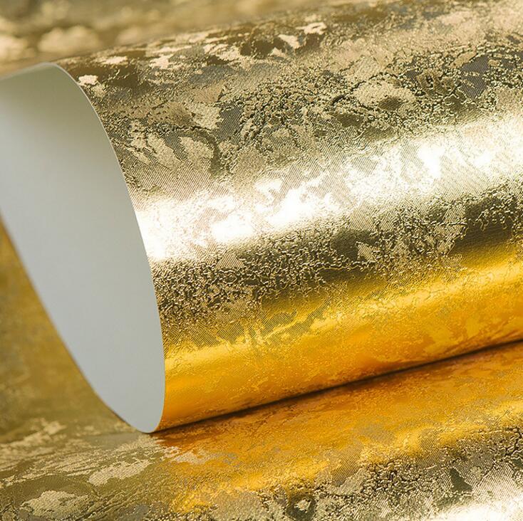 10 mt goldsilber folie gebrstet geprgte tapete luxus glitter dekoration fr decken wand hotel shop 3d hintergrund wal - Silber Tapete