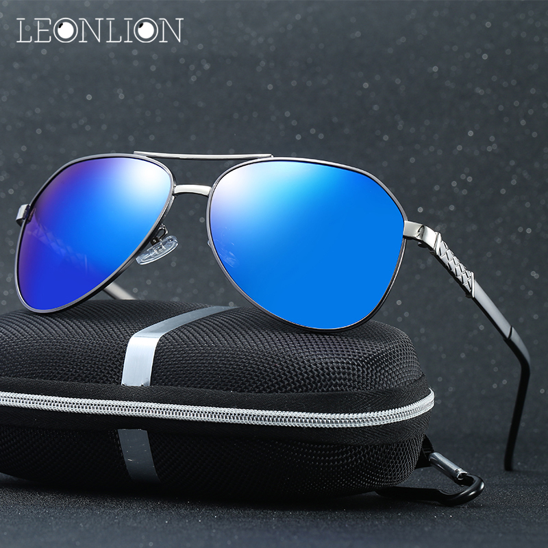 faef4296e8b Online Shop LeonLion 2018 Alloy Pesca Polarized Mirror Sunglasses Men UV400  Classic Safety Retro Metal Goggle Glasses Male Eyewear For Men