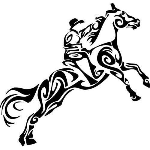 Horse Filly Colt Rodeo Western Farm Car Truck Window Laptop Vinyl Decal Sticker