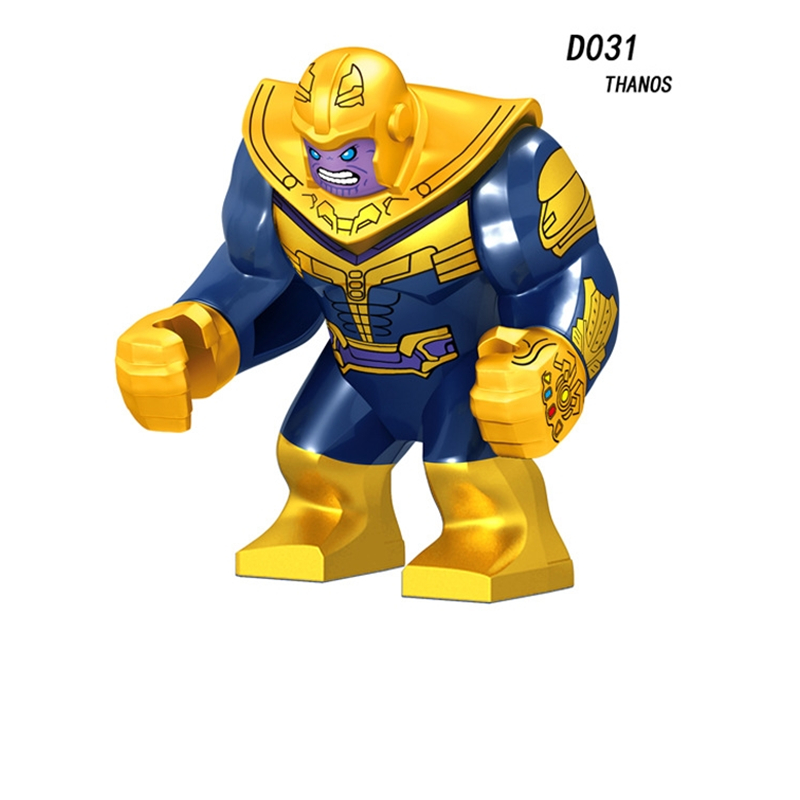 Single Sale Super Heroes Thanos Infinity Gauntlet With Stones Vision Captain America Building Blocks Kids Toys Gifts D031