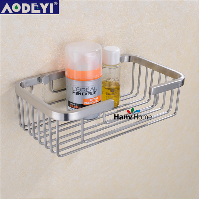 Wall Mounted Stainless Steel Bathroom Shelf Bracket Shelves Basket Shower  Corner Storage Caddy