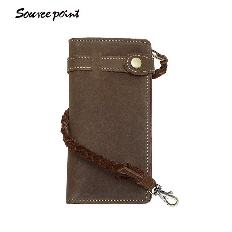 2017 Men Wallet Clutch Genuine Leather Vintage Brand Rfid Wallet Male Organizer Cell Phone Wallets Long Coin Purse