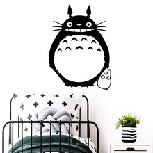 Diy Totoro Family Wall Stickers Mural Art Home Decor Removable Vinyl Mural Wallpaper Pvc Wall Decals Kids Room Creative Decals 3m 0 6m glossy red paint furniture stickers removable vinyl diy wallpaper art pvc decals kitchen cabinet wall sticker home decor