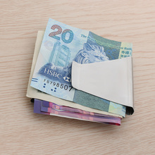 1 шт. высококачественный держатель для денег из нержавеющей стали кредит наличными карта металлический Карманный держатель кошелек двухсторонний унисекс кредитный держатель