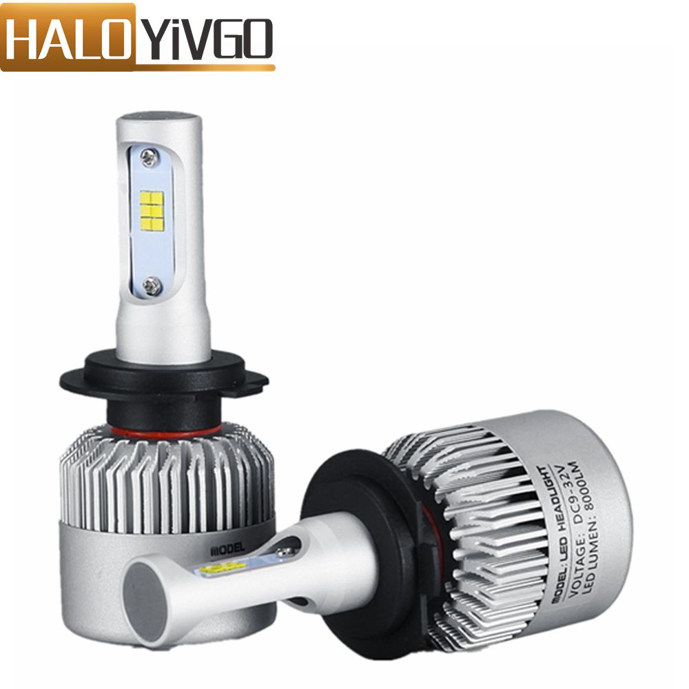 1Pair H7 LED Car Headlight Bulb 8000LM CSP 72W All in One Car LED Headlights Fog
