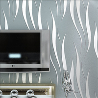 Papel Parede Modern Solid Curve Pattern Wallpaper 3D Mural Wall Decal Fresh Textile Non Woven Bedroom