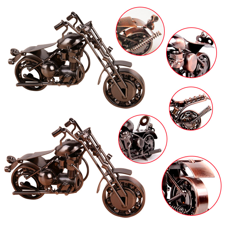Home decor handmade motorcycle model toys metal motorbike for Motorcycle decorations home