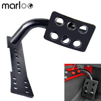 Marloo Metal Dead Pedal Left Side Foot Rest Kick Panel for Jeep Wrangler JKU Unlimited Rubicon Sahara OffRoad Sport Accessories