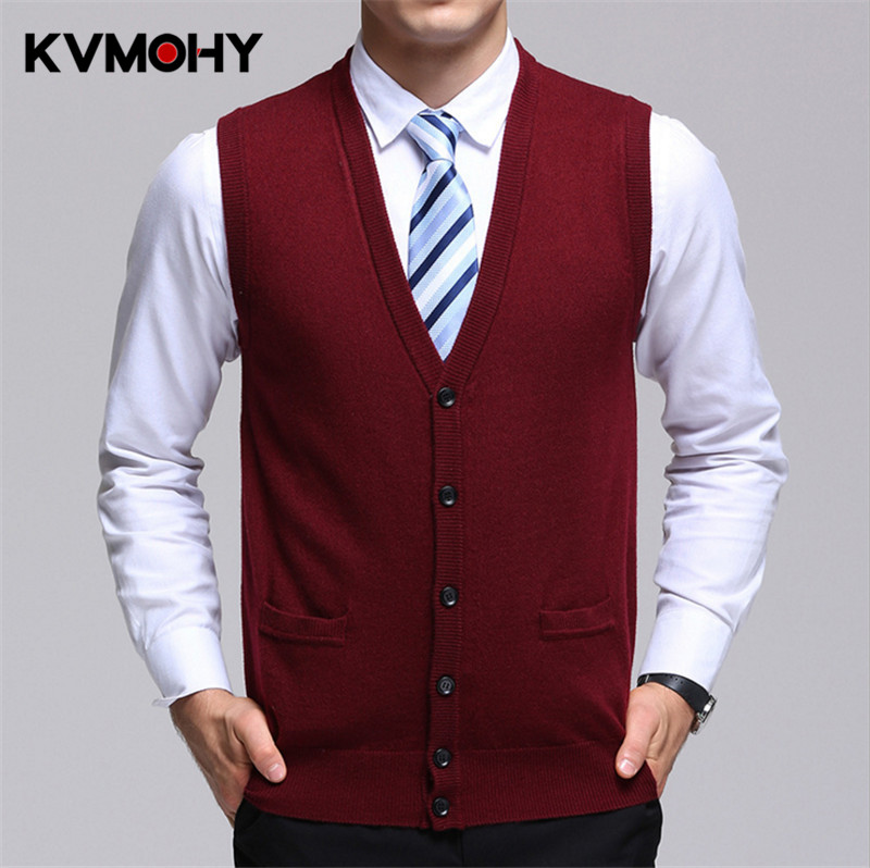 Sweater Male Spring Autumn Male Sleeveless Cardigan Men Jacket Casual Knitted Plus Size Woolen Sweaters Vest Men's Clothing