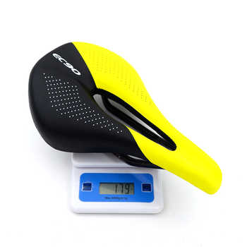 EC90 Carbon Fiber Bike Saddle MTB Road Cycling Seats 143mm Wide Power-Pro Bicycle Racing Saddle Cycling Parts Black White Yellow