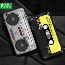 Phone Case For iphone 6 7 8 plus Cool 3D Old Styles Tape Radio Original Cases Hard Back For iphone 6 6s 7 Plus Cover Bag