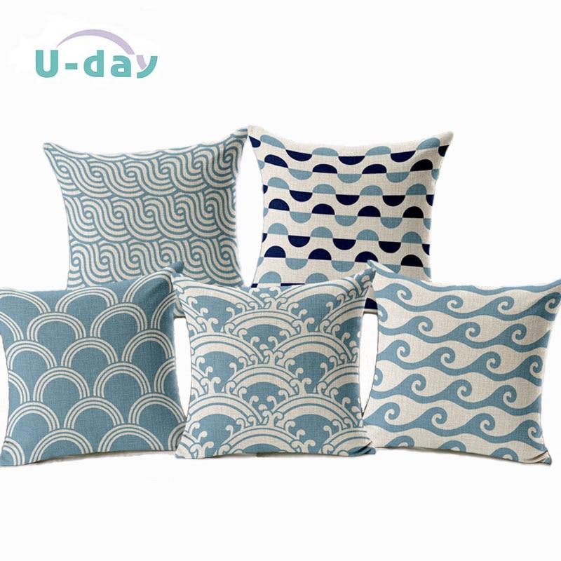 Geometry cushion home car decorative throw pillows new - Fundas cojines sofa ...