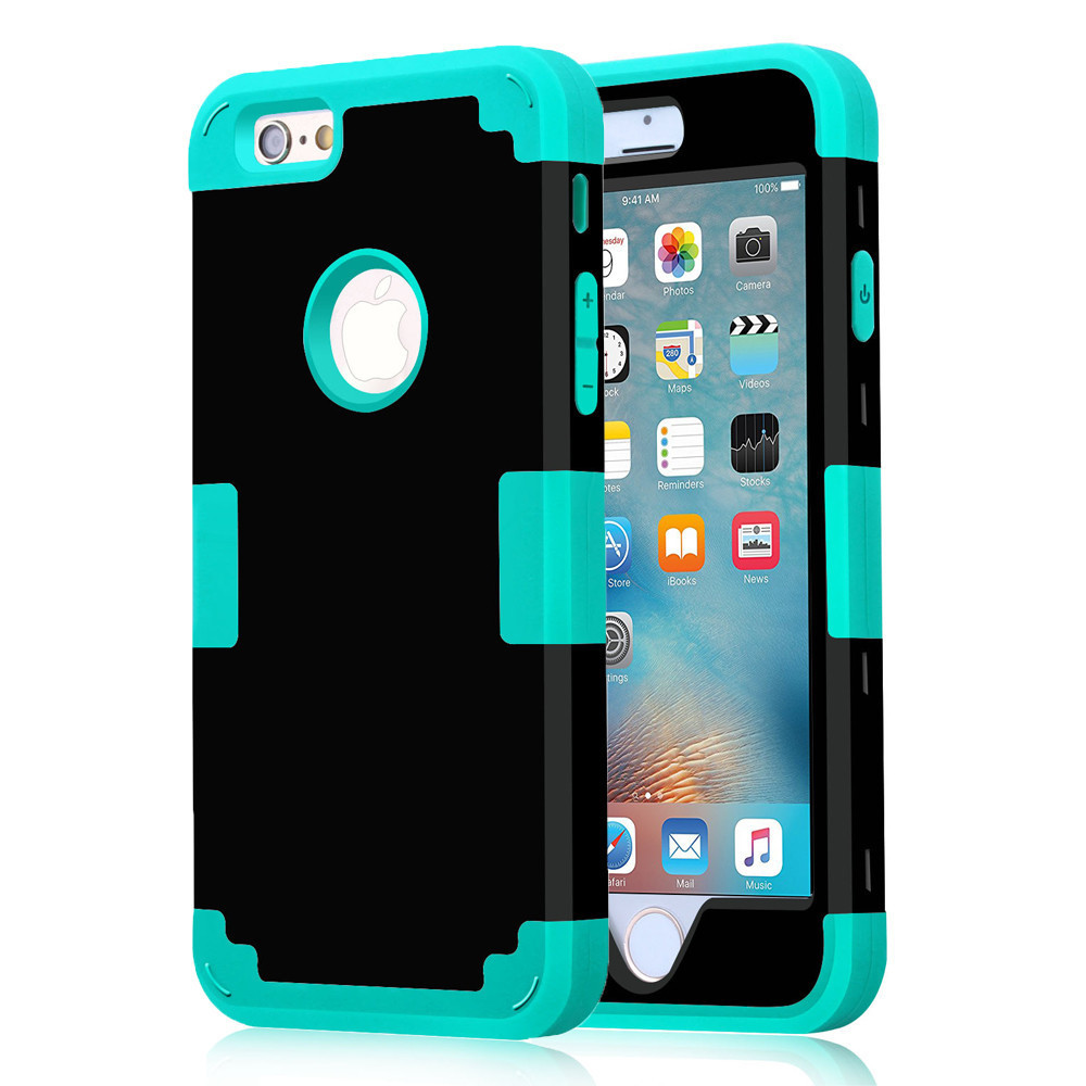 For Apple iPhone 7 Case Shockproof Protect Hybrid Hard Rubber Impact Armor Phone Cases For iPhone 5//5S/5C/SE/6/6S Plus/7 CoverFor Apple iPhone 7 Case Shockproof Protect Hybrid Hard Rubber Impact Armor Phone Cases For iPhone 5//5S/5C/SE/6/6S Plus/7 Cover