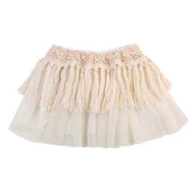 2017 Newborn Toddler Baby Girls Tutu Skirt Dance Hollow Lace Long Tassel Tulle Photo Prop Costume Skirt