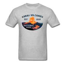 Casual Men T-shirt Cotton Grey Tshirt Summer Shirts Hawaii Volcanoes National Park Travel Tops & Tees Custom Father Cool Clothes