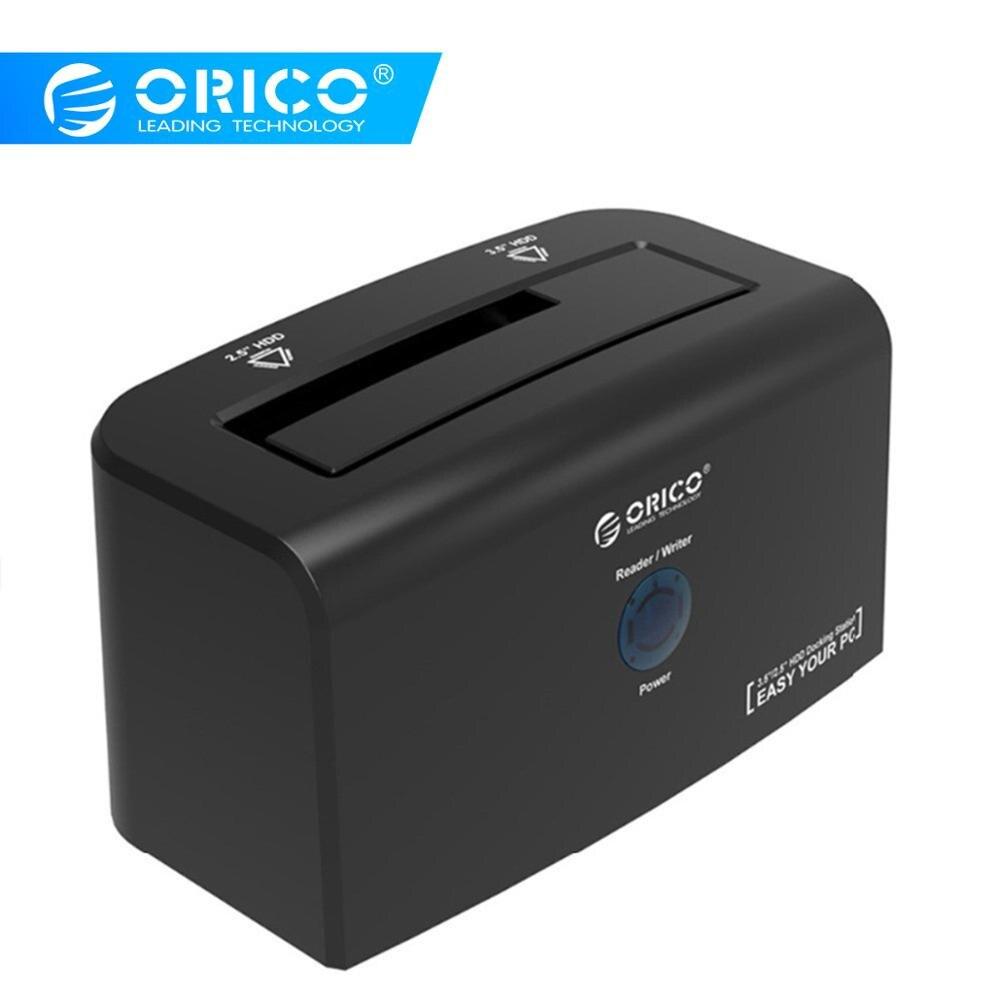 Station d'accueil ORICO 2.5 3.5 pouces boîtier SATA USB 3.0 boîtier de disque dur pour 3.5 pouces HDD 12V2. 5A adaptateur secteur