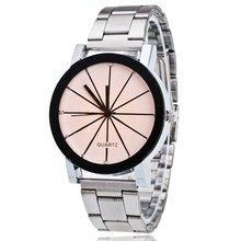 2018 стильные пары Кварцевые часы Мальчики Девочки Студенты сплав наручные часы любовник подарок Простой Круглый циферблат часы для оптовых