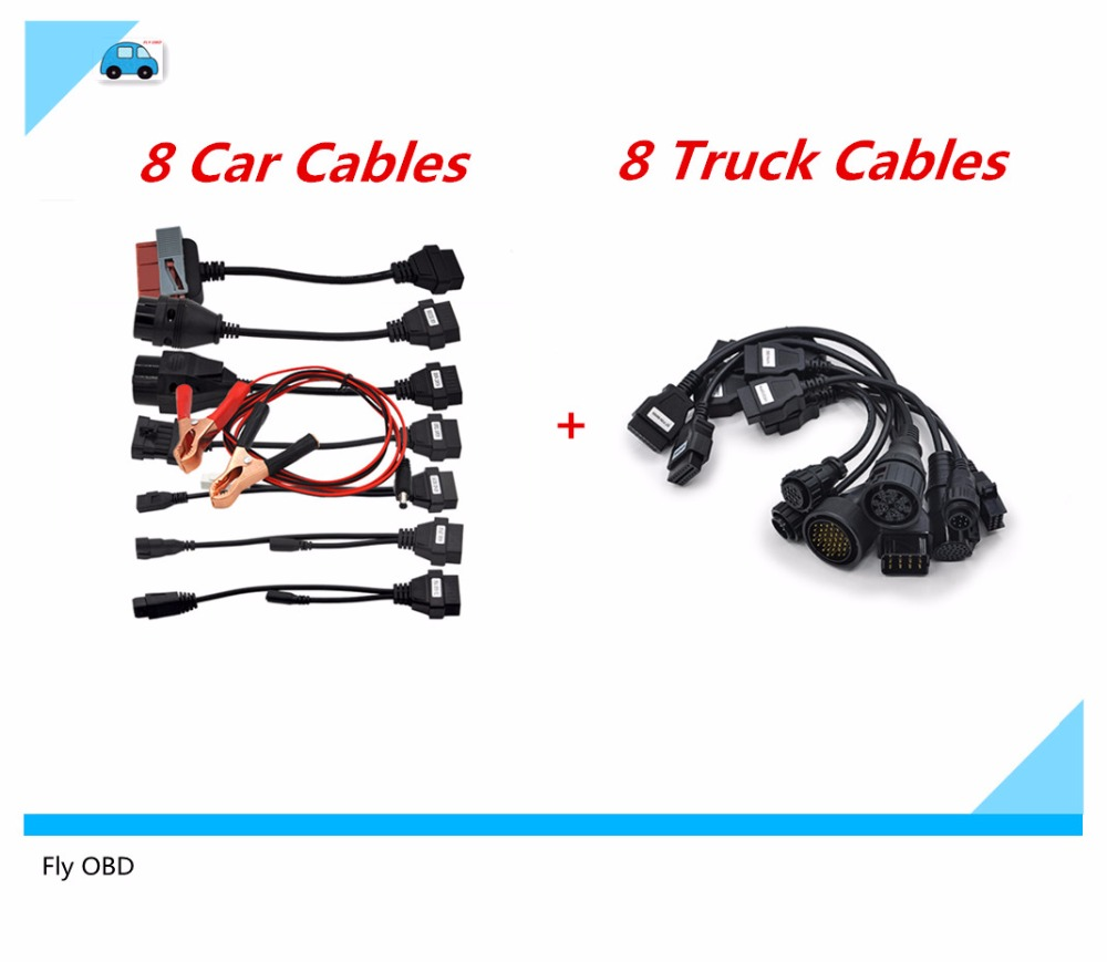 8 car cables with 8 truck cables full set cables for cars and trucks tcs cdp