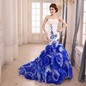 Dress Wedding Chinese Blue Chinnosoire