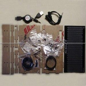Image 3 - DIY ערכת AS1424 דיגיטלי מד רמת אודיו תצוגת LED מהבהב מוסיקה ספקטרום Analyzer מחוון עבור mp3 כוח מגבר שחור