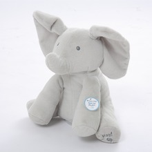 Humor Ted Peek A Boo Elephant ,toys and gifts for Children,electronic,musical,flapping ears,talking and singing