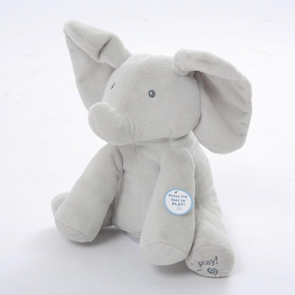 Humor Ted Peek A Boo elefante juguetes y regalos para los niños electrónicos musical agitando las orejas hablando y cantando